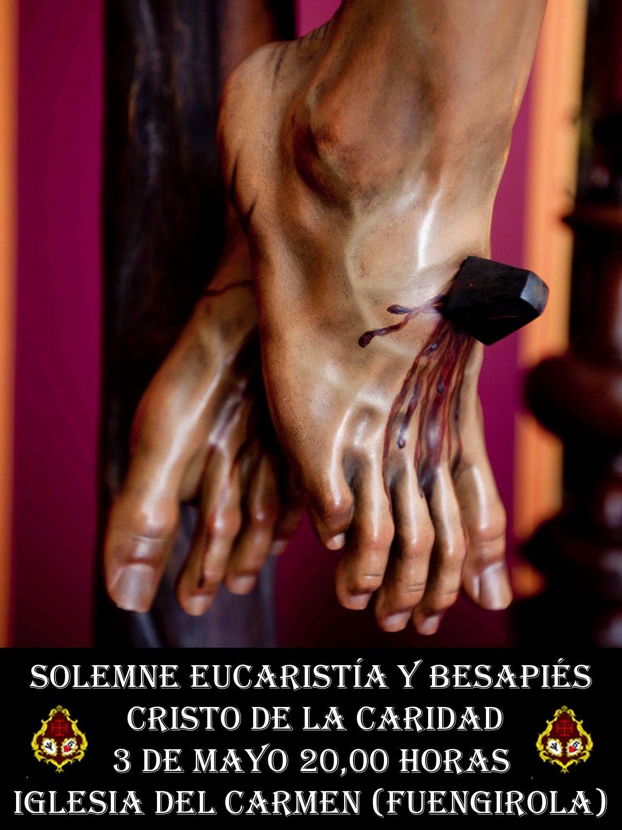 Cristo de la Caridad: Solemne Eucaristía y Besapiés