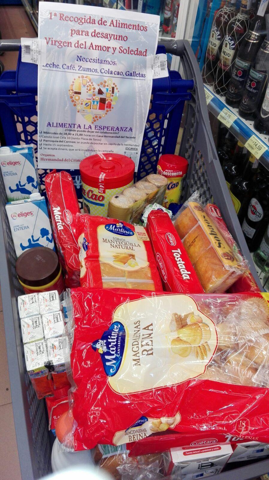 Recogida de alimentos en supermercado
