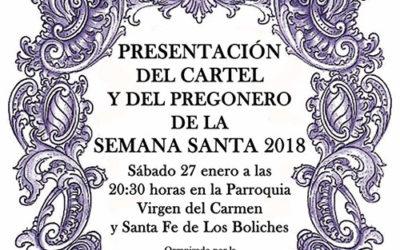 Presentación cartel y pregonero Semana Santa 2018